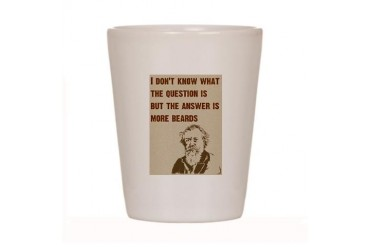 Question/Beard/OldMan Comedy Shot Glass by CafePress