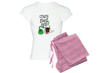 Crazy Plant Lady Farmer Women's Light Pajamas by CafePress