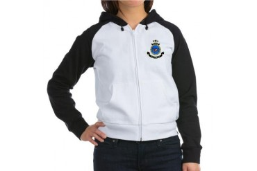 HMAS Perth badge Navy Women's Raglan Hoodie by CafePress