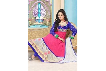 Charming Pink Georgette Anarkali Suit
