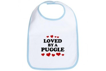 Loved: Puggle Pets Bib by CafePress