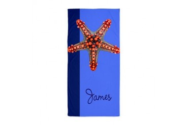 starfish blue Beach Towel