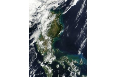 Satellite image of the Philippine island of Luzon.