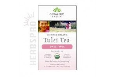 Organic Tulasi Tea Sweet Rose 18 ct