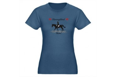 Cute Thoroughbred Mom Organic Women's Fitted T-Shi Pets Organic Women's Fitted T-Shirt dark by CafePress