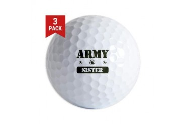 Army Sister Army Golf Balls by CafePress