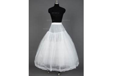 Women Nylon/Tulle Netting Floor-length 3 Tiers Petticoats (037031001)