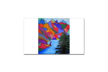 Banff Nature Sticker Rectangle by CafePress
