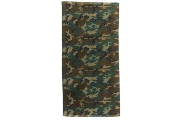 Woodland Camo Military Beach Towel