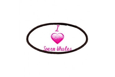 I Love/Heart Sperm Whales Animals Patches by CafePress