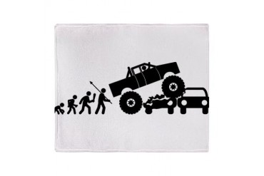 Monster Truck Stadium Blanket Sports Throw Blanket by CafePress