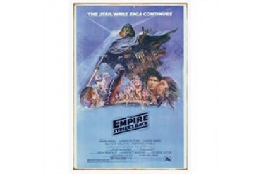 Star Wars: The Empire Strikes Back Style B Movie Poster Heavy Gauge Tin Sign
