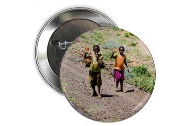Kids of Africa 3 Cute 2.25 Button by CafePress