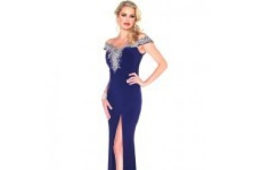 Mac Duggal Black White Red - Style 61702R