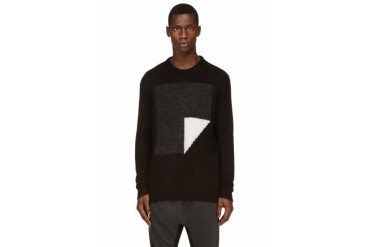 D.gnak By Kang.d Black Abstract Pattern Sweater