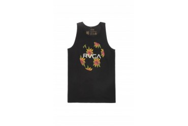 Mens Rvca Tank Tops - Rvca Fronds Tank Top