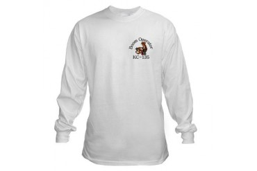 KC-135 Boom W/Moto on back Round Long Sleeve T-Shirt by CafePress