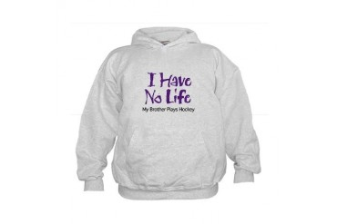 My Brother Plays Hockey (PurpleType) Kids Hoodie