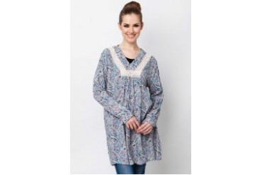 Ethnic Chic Ayu Long Sleeve Cotton Top
