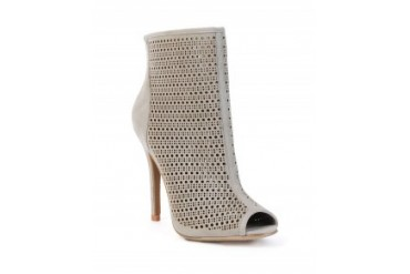 Chinese Laundry 'Jupiter' Perforated Peep Toe Bootie Grey, 8