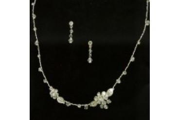 The Bridal Veil Company Necklace & Earrings Set - Style 12085