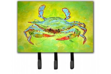 Bright Green Blue Crab Leash or Key Holder