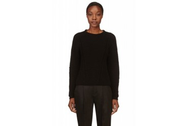 Helmut Lang Black Vaulted Texture Sweater