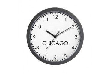 CHICAGO Modern Newsroom Wall Clock