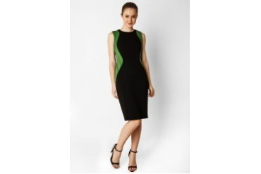 Urban Twist Two Color Fit Midi Dress