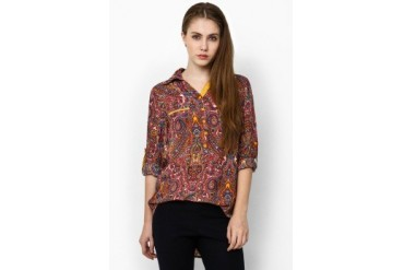 Triset Ladies Long Sleeve With Collar Printed
