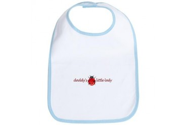 Daddy's Little Lady Baby girl Bib by CafePress
