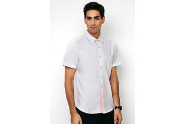 Men's Top Woven Solid Casual Shirt