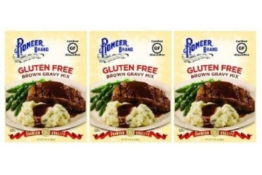 Pioneer Brand Gluten Free Brown Gravy Mix 3 Packet Pack