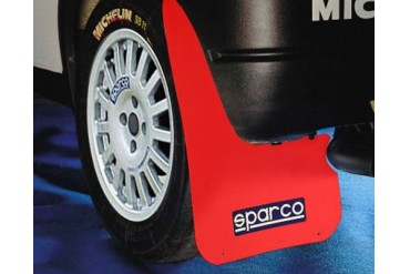 Sparco Red Universal Rally Mud Flaps