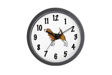 Beagle Dogs Wall Clock by CafePress
