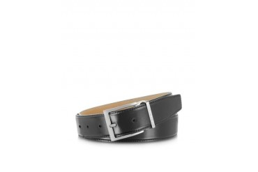 York Black Calf Leather Belt
