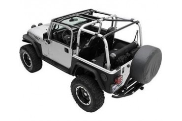 Smittybilt SRC Roll Cage Kit, 2007-2010 2-Door JK Wrangler, 7-Piece 76901 Roll Cage