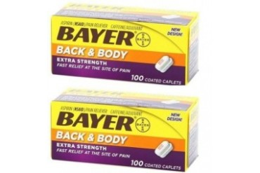 Bayer Back amp Body Extra Strength Coated Caplets 2 Bottle Pack
