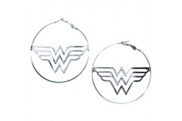 DC Comics Wonder Woman Logo Hoop Earrings