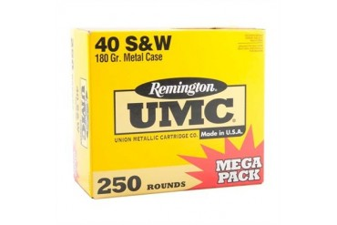 Remington Umc Handgun Ammunition - Rem Ammo 23779 Umc 40 S&W 180gr Mc 250/Bx