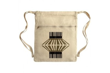 Piano, Abstract Art, Sack Pack Funny Cinch Sack by CafePress