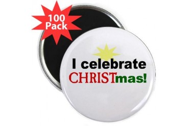 Celebrate Christ Political 2.25 Magnet 100 pack by CafePress