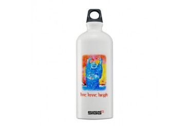 quot;Live, Love, Laughquot; Buddha - Sigg Bottle Love Sigg Water Bottle 0.6L by CafePress
