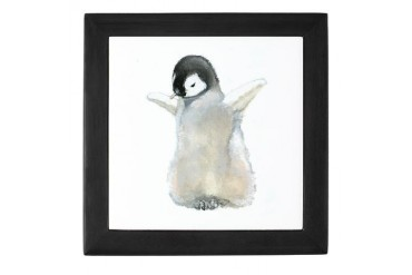 Emperor Penguin Animals Keepsake Box by CafePress