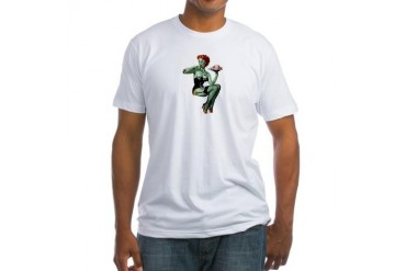 zombie pin-up girl Fitted T-Shirt