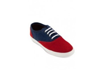JAXON Suede Leather Dual Tone Sneakers