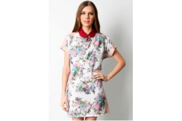 Now & Forever Flower Mini Dress