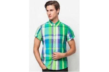 Neverland Short Sleeve Shirt With Check Print