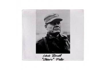 Chesty Puller w text Stadium Blanket Usmcfp Throw Blanket by CafePress