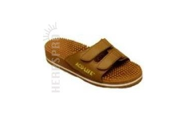 Massage Sandals Brown with Velcro M12/W13 1 pair